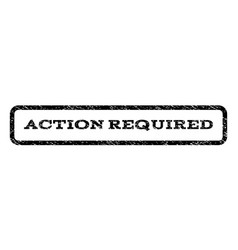 Action required watermark stamp vector