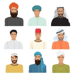Arabian arabic islamic male man character vector