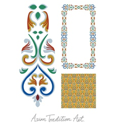 Asian tradition style art collection vector image vector image