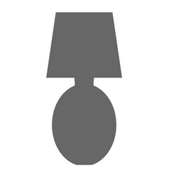Bedroom lamp isolated icon vector