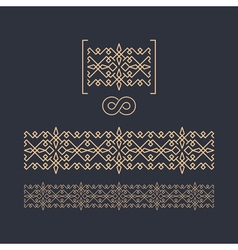 Border seamless pattern decorative element vector