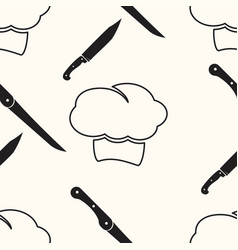 chef cartoon seamless pattern background vector image vector image