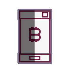 Concept smartphone with bitcoin money symbol vector