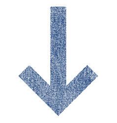 Down arrow fabric textured icon vector
