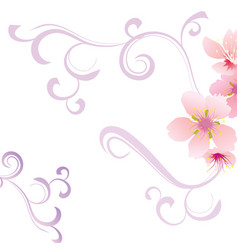 floral background with flower vector image vector image