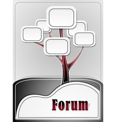 Forum tree or concept information vector