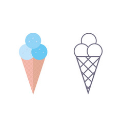 ice cream icon on isolated background vector image
