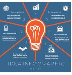 Idea business concept light bulb infographic 7 vector