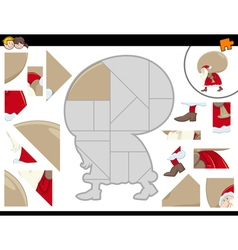 Jigsaw puzzle with santa vector
