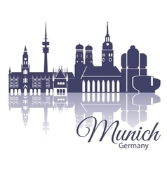 Munich skyline detailed silhouette trendy vector