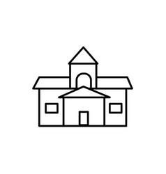 old school icon vector image vector image