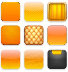 Orange app icons vector