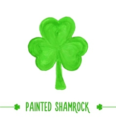 Painted shamrock vector