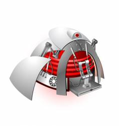 Plastic robot vector