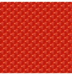 Red chinese seamless pattern dragon fish scales vector