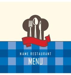 restaurant menu design vector image
