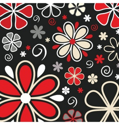 Retro flowers vector