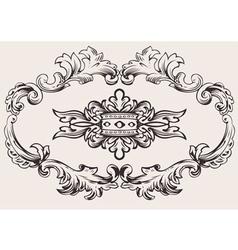 Royal frame decoration vector