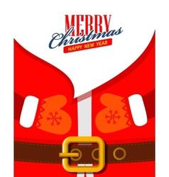 Santa claus close up vector
