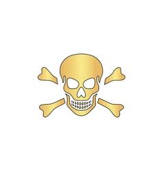 Skull computer symbol vector