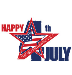 symbol of july 4 independence day vector image