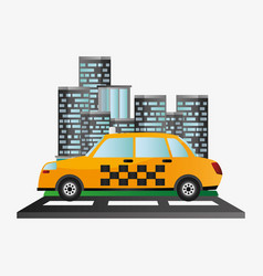 taxi car service public transport urban background vector image