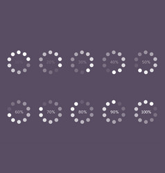 loader progress icons vector image