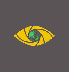 Eye shutter logo design template vector