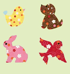 Animal figurines vector