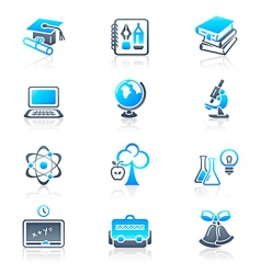 education objects icons marine series vector image