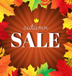 Autumn Sale Burst Poster With Leaves vector image