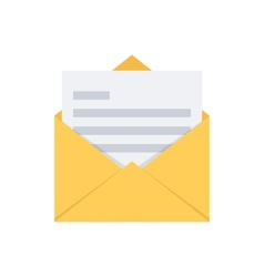 Open envelope mail symbol vector