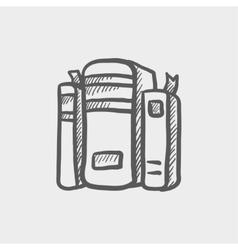 Binders sketch icon vector image
