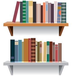 modern bookshelves vector image