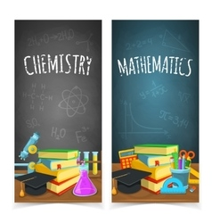 Science classes headers vector