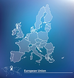 Map of european union 2015 vector