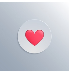 Minimalistic with a heart icon vector