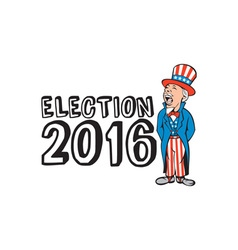 Election 2016 uncle sam shouting retro vector