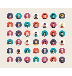 Set of flat design professional people avatar vector