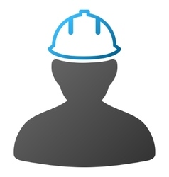 Person in hardhat gradient icon vector