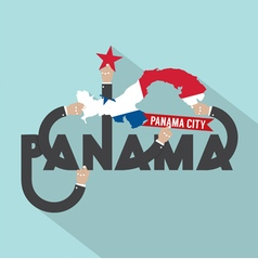 Panama City The Capital Of Panama Typography vector image