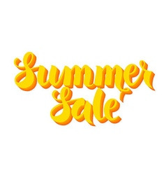 Yellow summer sale lettering isolated over white vector