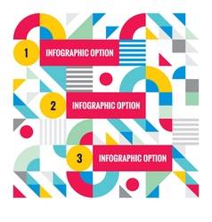 Abstract business infographic template vector image vector image