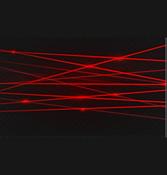 Abstract red laser beam transparent isolated on vector