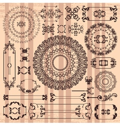 beautiful arabic textures vector image vector image