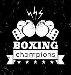 Boxing white vector