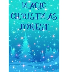 Christmas Background Winter Forest vector image vector image