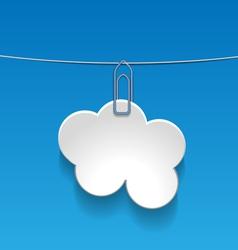 cloudLabel vector image vector image