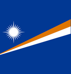 Colored flag of the marshall islands vector