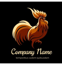Company logo template with fire cock vector